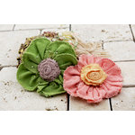 Prima - Pas De Chat Collection - Flower Embellishments - Peachtree
