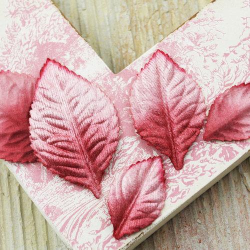 Prima - Heirloom Rose Collection - Velvet Leaves - Ginger