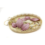 Prima - Heirloom Collection - Mulberry Paper Leaves - Plum, CLEARANCE