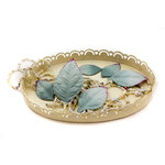 Prima - Heirloom Collection - Mulberry Paper Leaves - Blue Ice, CLEARANCE