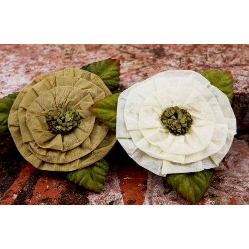 Prima - Fairyring Flowers Collection - Flower Embellishments - Antique Lace