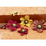 Prima - Homespun Bittles Collection - Assorted Flowers - Mix 4