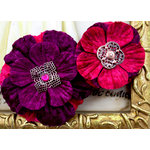 Prima - Medicci Collection - Flower Embellishments - Plum, BRAND NEW