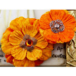 Prima - Medicci Collection - Flower Embellishments - Citrus