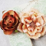 Prima - Baroque Blooms Collection - Flower Embellishments - Sienna