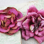 Prima - Baroque Blooms Collection - Flower Embellishments - Deep Pink
