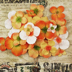Prima - Painterly Petals Collection - Flower Embellishment Bag - Hydrangeas - Orange, BRAND NEW