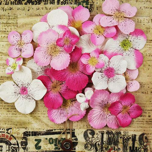 Prima - Painterly Petals Collection - Flower Embellishments - Hydrangeas - Pink