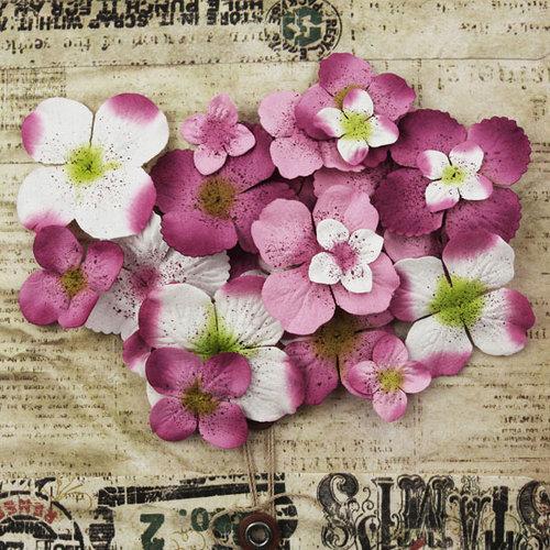 Prima - Painterly Petals Collection - Flower Embellishments - Hydrangeas - Lavender