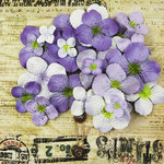 Prima - Painterly Petals Collection - Flower Embellishment Bag - Hydrangeas - Violet, BRAND NEW