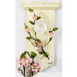 Prima - Cherry Blossom Branch Collection - Flower Embellishments - Bubblegum