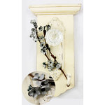 Prima - Cherry Blossom Branch Collection - Flower Embellishments - Silver