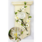 Prima - Flutter Vines Collection - Butterfly and Flower Embellishments - White, CLEARANCE