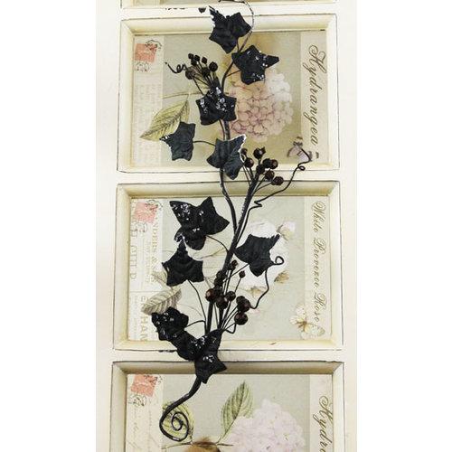 Prima - Holiday Lights Collection - Glitter Sprays - Black Ivy, BRAND NEW