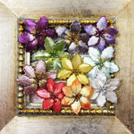 Prima - Holiday Lights Collection - Flower Embellishments - Poinsettias - Small