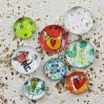 Prima - Pebbles Collection - Self Adhesive Pebbles - Animal Bash, BRAND NEW