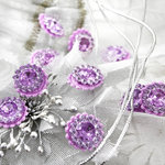 Prima - Sultan Collection - Bling - Flower Center Embellishments - Lavender
