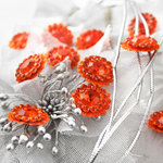Prima - Sultan Collection - Bling - Flower Center Embellishments - Orange, CLEARANCE
