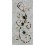 Prima - Say It In Pearls Collection - Self Adhesive Jewel Art - Bling - Fairy Magic with Flowers - Brown, CLEARANCE