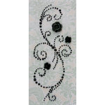 Prima - Say It In Pearls Collection - Self Adhesive Jewel Art - Bling - Fairy Wings with Flowers - Black, CLEARANCE