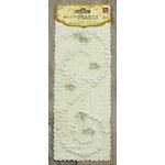 Prima - Say It In Pearls Collection - Self Adhesive Jewel Art - Bling - Swirl with Roses - Cream, CLEARANCE