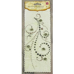 Prima - Say It In Pearls Collection - Self Adhesive Jewel Art - Bling - Flourish with Roses - Gray, CLEARANCE