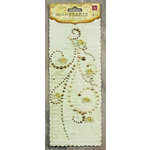 Prima - Say It In Pearls Collection - Self Adhesive Jewel Art - Bling - Flourish with Roses - Light Brown, CLEARANCE