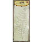 Prima - Say It In Pearls Collection - Self Adhesive Jewel Art - Bling - Fern Leaf - Cream, CLEARANCE