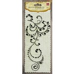 Prima - Say It In Pearls and Crystals Collection - Self Adhesive Jewel Art - Bling - Flourish - Black, CLEARANCE