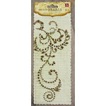 Prima - Say It In Pearls and Crystals Collection - Self Adhesive Jewel Art - Bling - Flourish - Brown