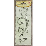 Prima - Say It In Pearls and Crystals Collection - Self Adhesive Jewel Art - Bling - Swirl - Black Diamond, CLEARANCE