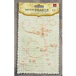 Prima - Say It In Pearls Collection - Self Adhesive Jewel Art - Bling - Swirl 2 with Roses - Pink, CLEARANCE