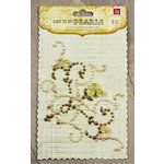 Prima - Say It In Pearls Collection - Self Adhesive Jewel Art - Bling - Flourish Corner with Roses - Brown, CLEARANCE