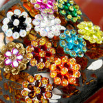 Prima - Monarch Collection - Bling - Flower Center Embellishments - Assorted
