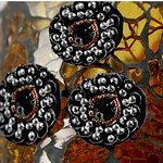 Prima - Dynasty Collection - Bling - Flower Center Embellishments - Black, CLEARANCE