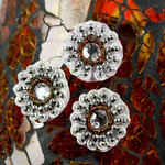 Prima - Dynasty Collection - Bling - Flower Center Embellishments - Ivory