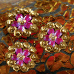 Prima - Monarch Collection - Bling - Flower Center Embellishments - Princess, CLEARANCE