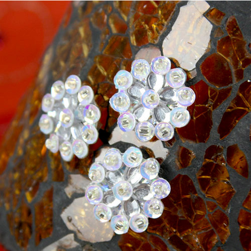 Prima - Monarch Collection - Bling - Flower Center Embellishments - Diamond, CLEARANCE