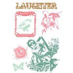Prima - Clear Acrylic Stamps and Self Adhesive Jewels - Garden Gate