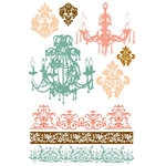 Prima - Clear Acrylic Stamps and Self Adhesive Jewels - Cantaria