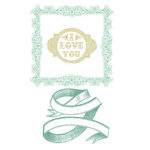 Prima - Clear Acrylic Stamps and Self Adhesive Jewels - Rondeaux