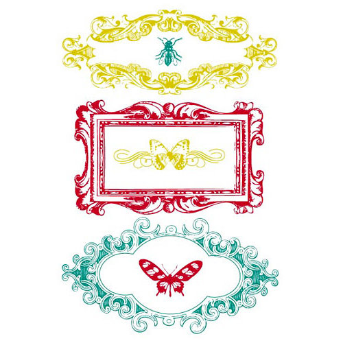 Prima - Clear Acrylic Stamps and Self Adhesive Jewels - Insectae - click to enlarge