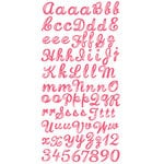 Prima - Strawberry Kisses Collection - Gem Alphabet Stickers - Pink, CLEARANCE
