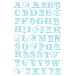 Prima - Watercolor Rainbow Collection - Jelly Alphabet Stickers - Blue, CLEARANCE