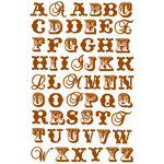 Prima - Raspberry Tea Collection - Jelly Alphabet Stickers - Brown, CLEARANCE