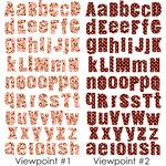 Prima - 3 Dimensional Alphabet Stickers - Mauve and Brown
