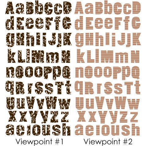 Prima - 3 Dimensional Alphabet Stickers - Brown and Sand