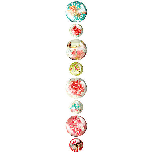 Prima - Pebbles Collection - Self Adhesive Pebbles - Strawberry Kisses, CLEARANCE