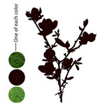Prima - DeVines Collection - Self Adhesive - Die Cut Felt Art - Flower Stems 4, CLEARANCE