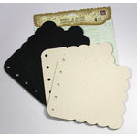 Prima - Build A Book Collection - Scalloped Canvas and Acrylic Book - Beige Black